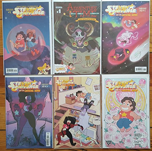 Steven Universe and the Crystal Gems #1 Cover A, B, C & Fried Pie Variant, Steven Universe #1B and Adventure Time Spooktacular #1 (with Steven Universe Preview) - Bundle of 6 BOOM! Comics (Steven Universe And The Crystal Gems 4)