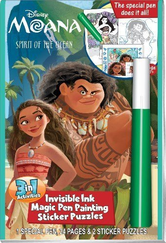 Disney Moana Invisible Ink and Sticker Set
