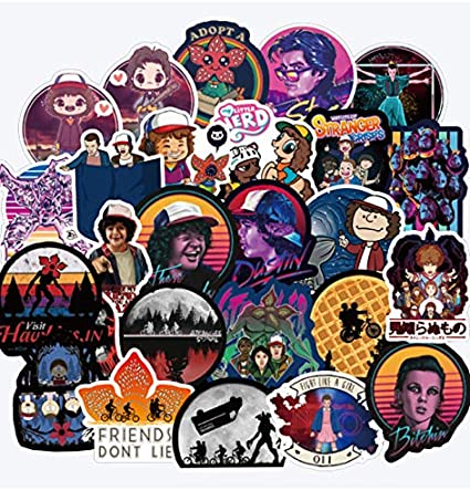DZCYAN 50 Stranger Things Stickers Pack Anime For Children On The Laptop Fridge Phone Skateboard Suitcase Funny Cool Sticker: Amazon.es: Coche y moto