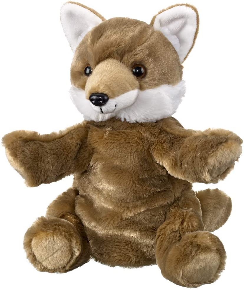 Wild and Wonderful Wildlife Artists Coyote 10 Plush Puppet Toy Coyote Puppets Stuffed Animal