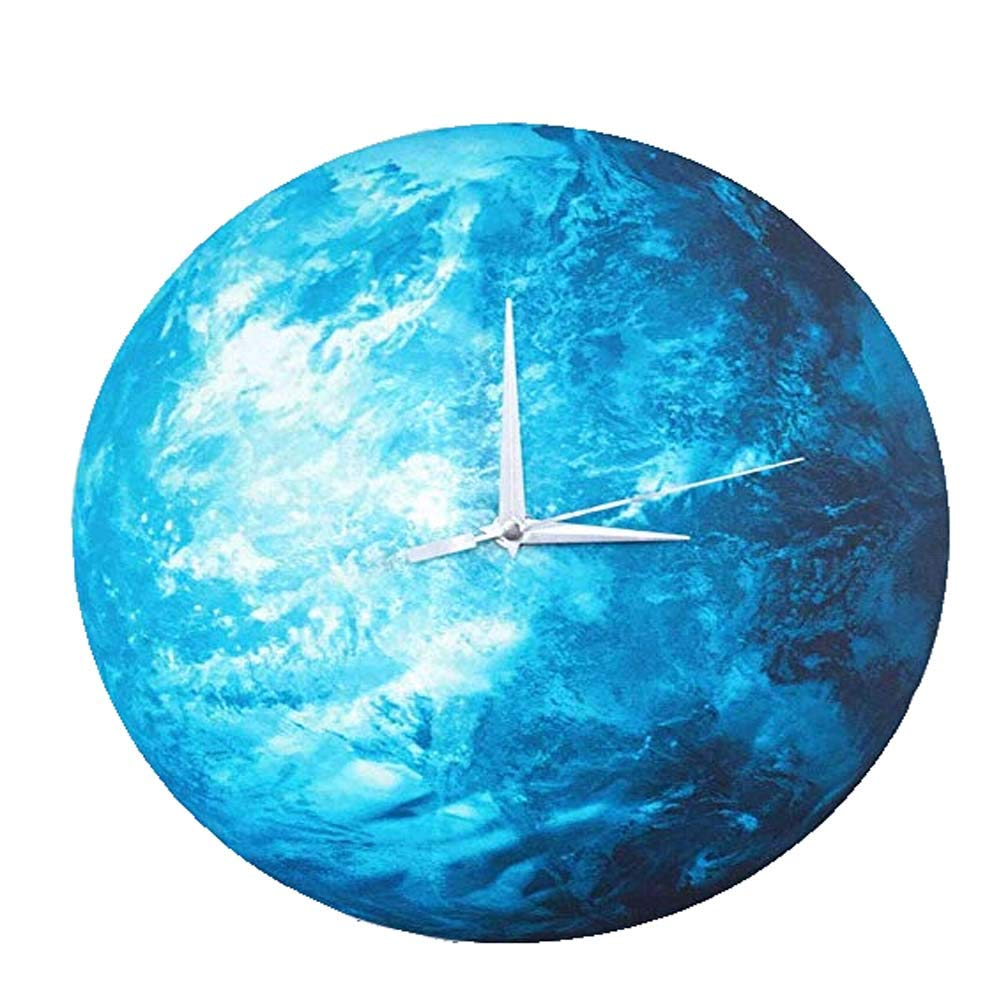 Draduo Creative Fashion Home Decoration Children's Room, Bedroom, Living Room Wall, Luminous Earth Wall Clock.