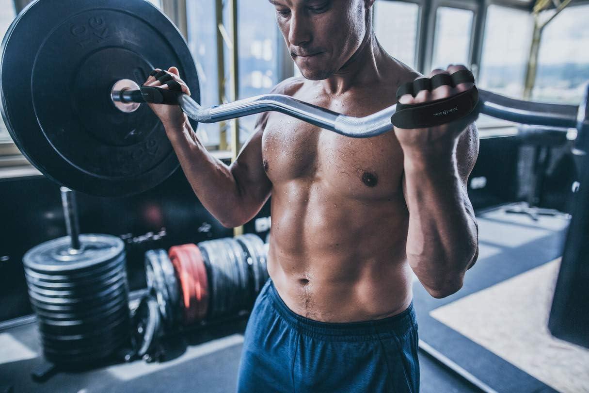 Bieten Halt beim Crosstraining Schwielen-Schutz Fitnessstudio Barehand-Griff Zubeh/ör Handschuhe f/ür Gewichtheben Crossfit Workout Fitness Klimmz/üge f/ür M/änner /& Frauen Power-Lifting Rudern