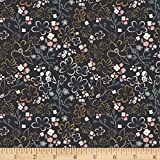 Art Gallery Fabrics Art Gallery Liten Ditsy Sparkler Jersey Knit Fabric by the Yard, Dark Blue