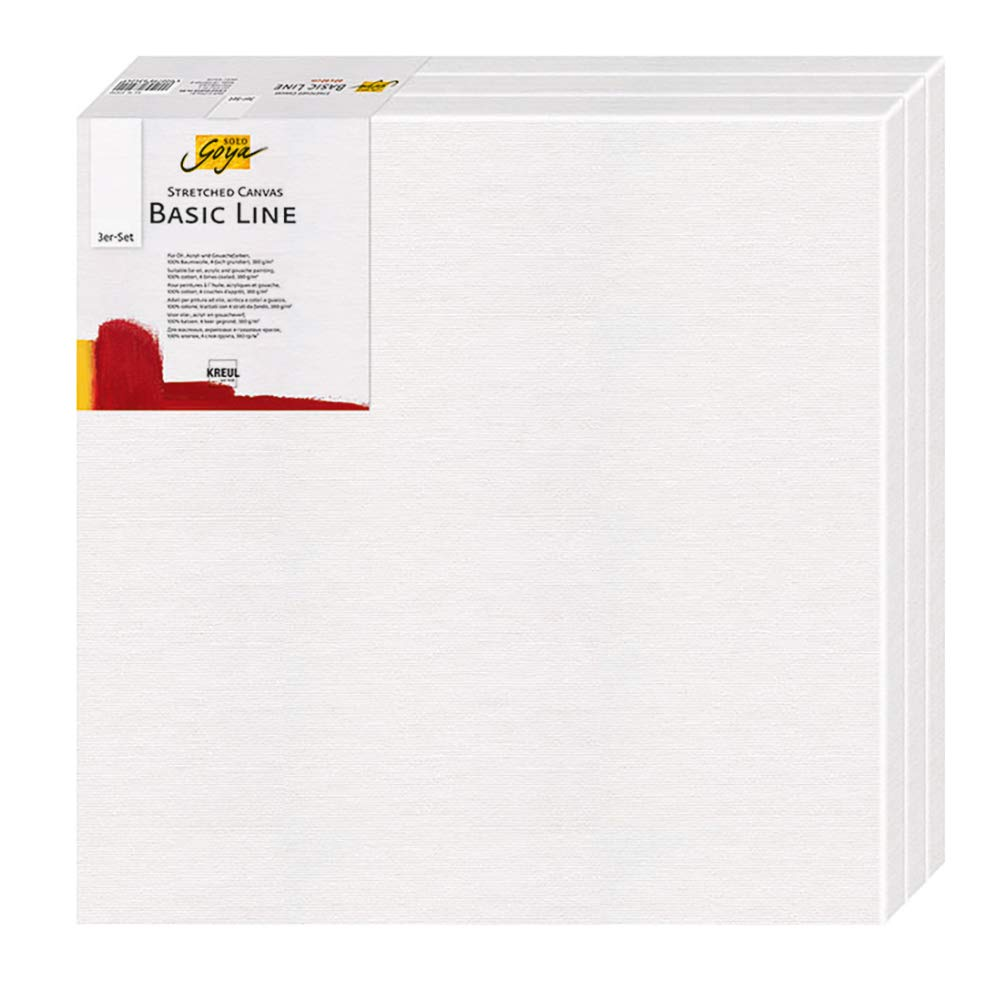Solo Goya 631010 Basic Line Keilrahmen 10 x 10 cm 3er Packung