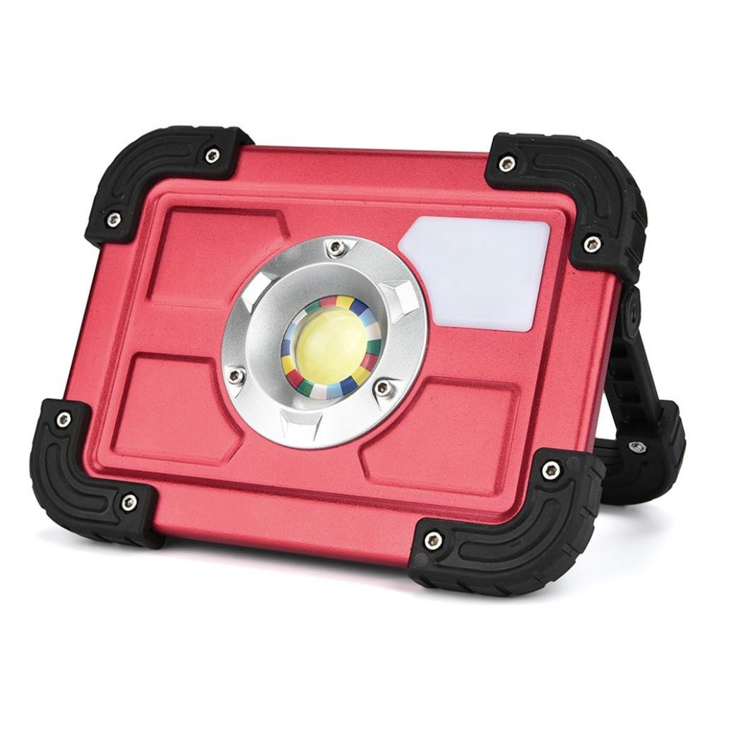 Braceus 20W Multiuse Portable Outdoor LED Camping Lantern Working Light Lawn Lamp (Red + Black)