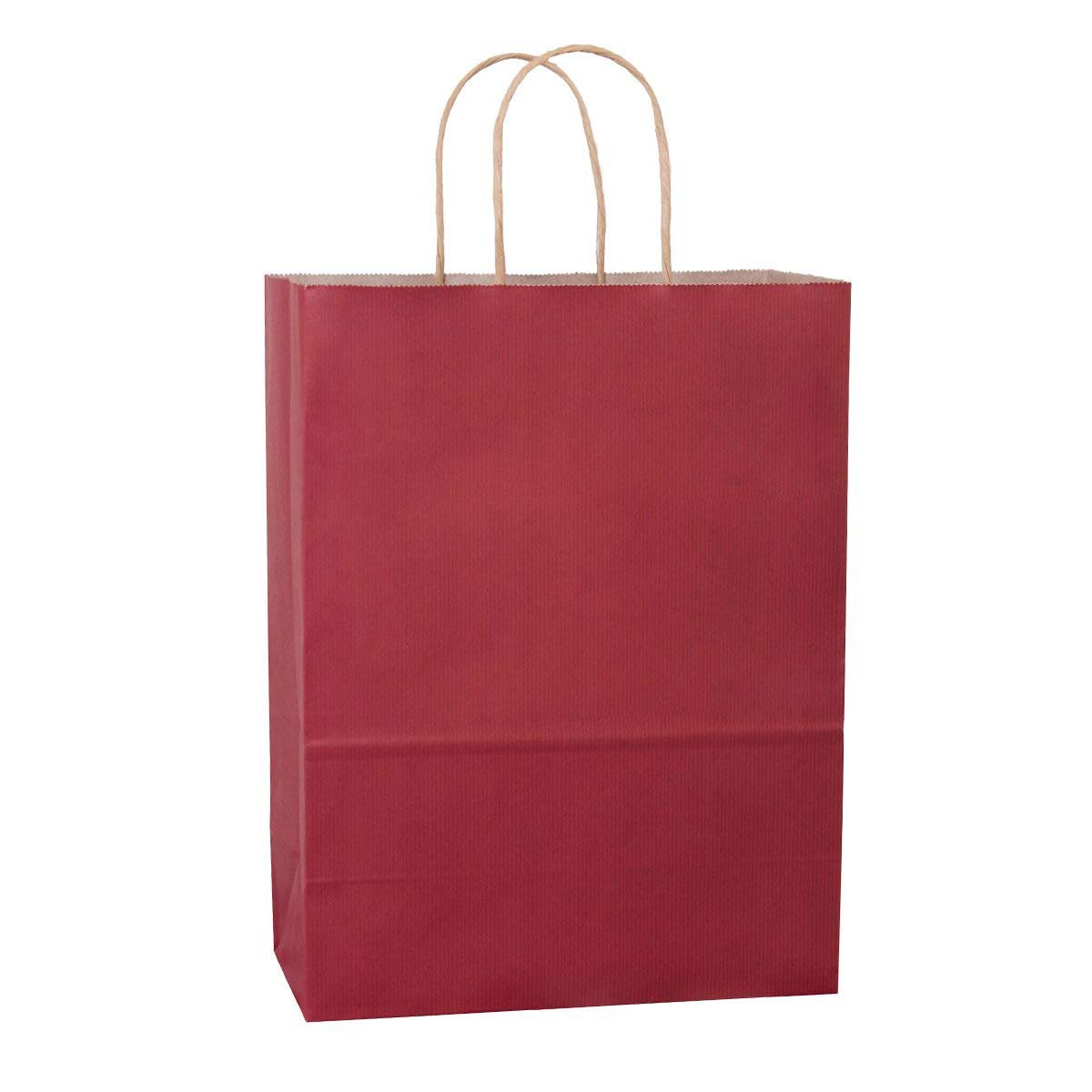 BagDream 10''x5''x13'', Debbie, 25Pcs Red Stripes Kraft Paper Bags, Shopping, Mechandise, Retail, Party, Gift Bags, 100% Recycled FSC Compliant