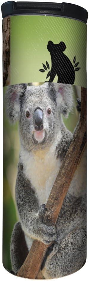 Tree-Free Greetings Barista Tumbler, Vacuum Insulated Travel Coffee Tumbler, 17oz Stainless Steel Mug, Koala Collage (BT20187)