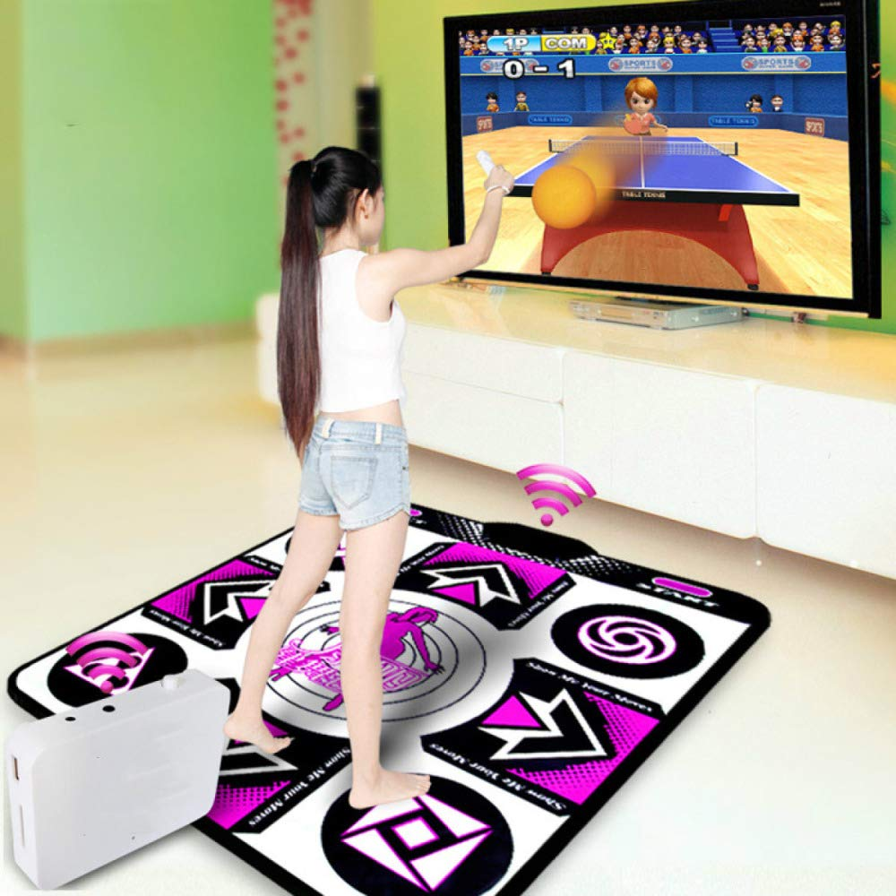 QXMEI Wireless TV Interface Computer Dual-use Single Dance Carpet Body Game Console 9183CM,Purple by QXMEI (Image #2)