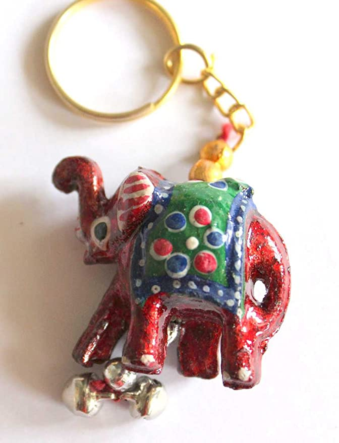 9324d05119554e Amazon.com   Hand Painted Elephant Keychains 10 Pieces   Office Products