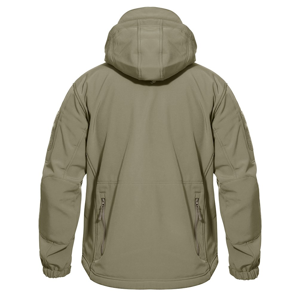 TACVASEN Men's Outdoor Vintage Classic Durable Military Tactical Jacket Coat Sand,US M(fit chest:35''-38'') by TACVASEN (Image #4)