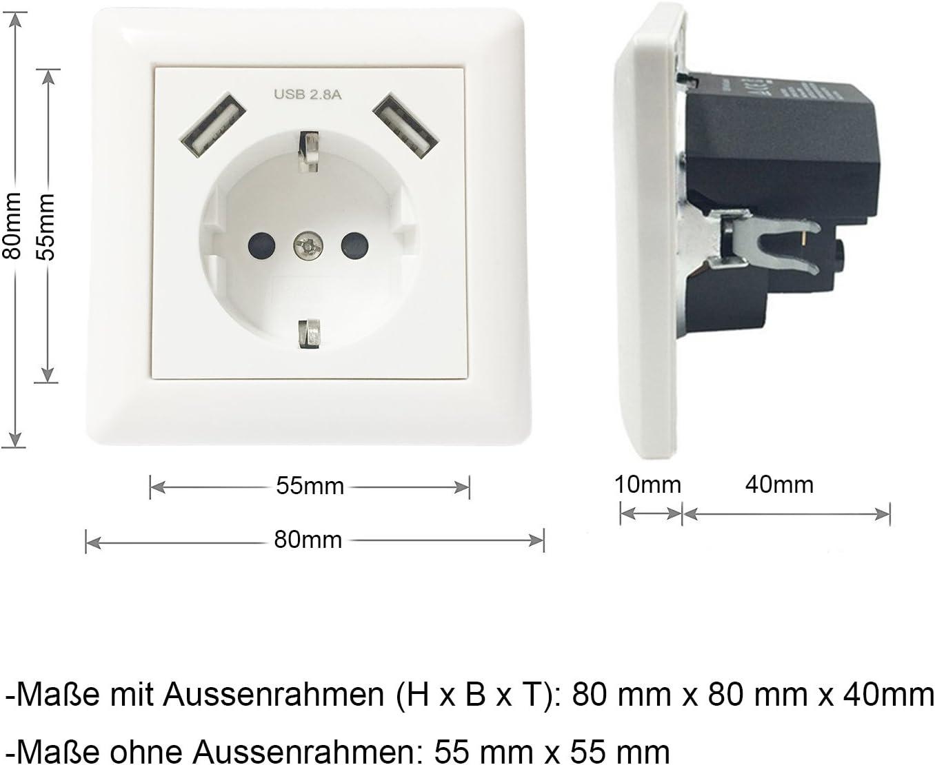 Enchufe para la pared con 2 puertos de carga USB