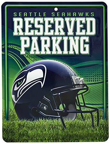 Seattle Seahawks Nfl Metal (NFL Seattle Seahawks Metal Parking Sign)