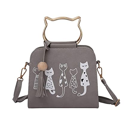 b2889792b5b3a Image Unavailable. Image not available for. Color: Animal Messenger Bag  Women Handbags Cat ...