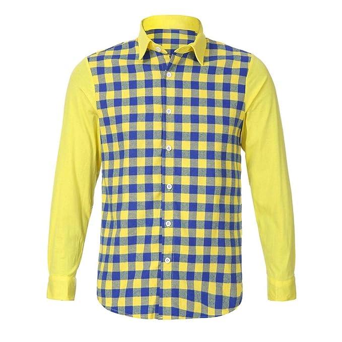 La Camisa de los Hombres, Camisa de Manga Larga Casual de la Tela Escocesa del