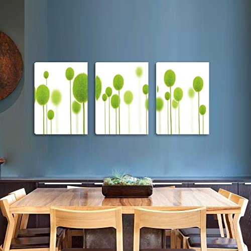 Dandelion Canvas Paintings Botanical Printing Wall Arts Framed Ready to Hang Wall Decor on Canvas 16 x 36