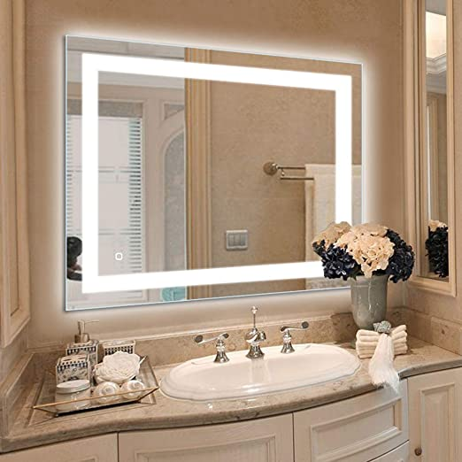 Amazon Com 36 X 28 Inch Led Lighted Vanity Bathroom Mirror Wall
