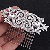 Fairy Moda Rhinestone Bridal Hair Side Comb Wedding Hair Pin Clip Art Deco