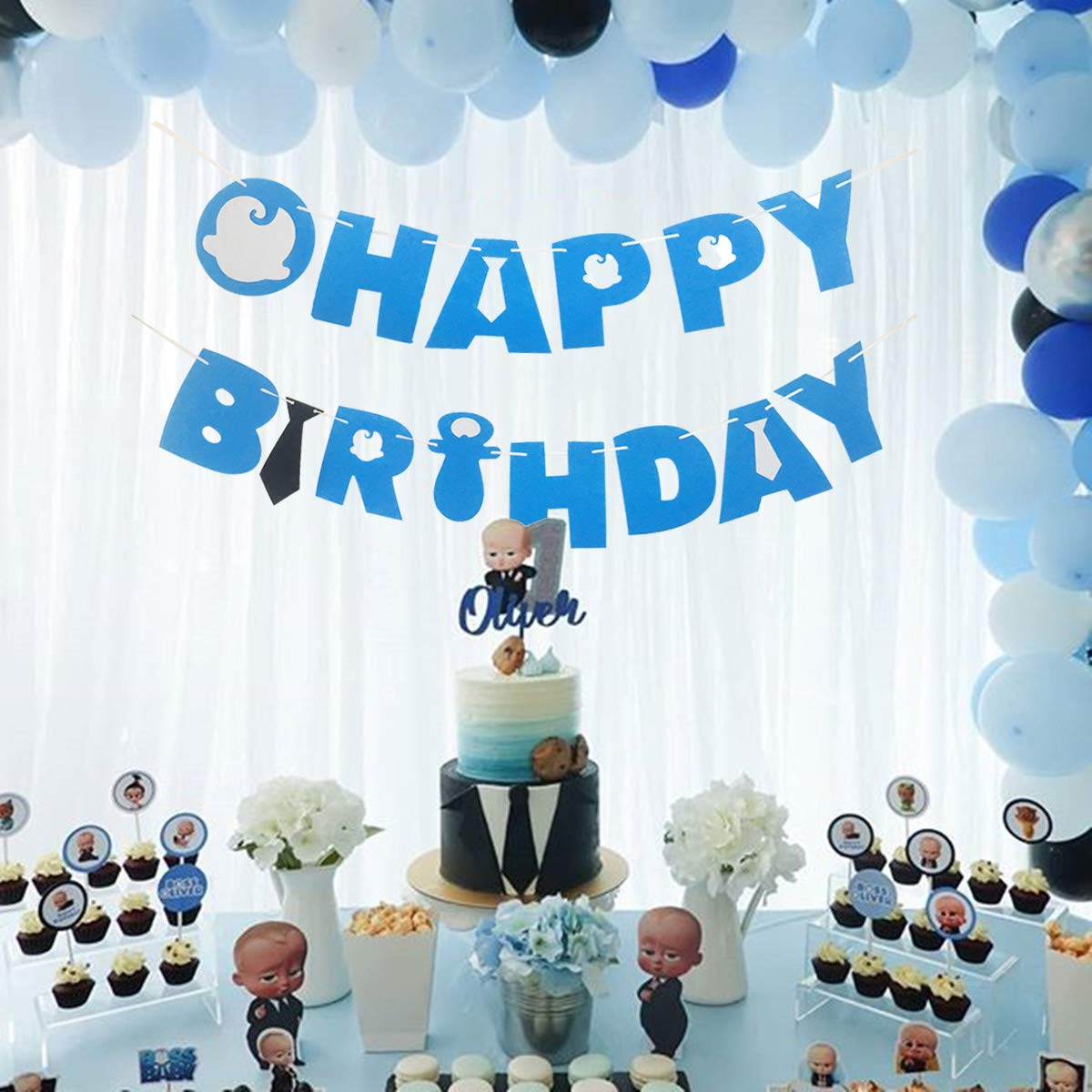 Boss Baby Birthday Banner Party Supplies For Kids Birthday Party Decorations Party supplies