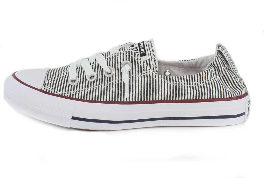 Converse Chuck Slip-ON Taylor All Star Shoreline Slip-ON Chuck Sneaker - Women's B075ZY6LB4 8 M US|White/Black/Red 34f599