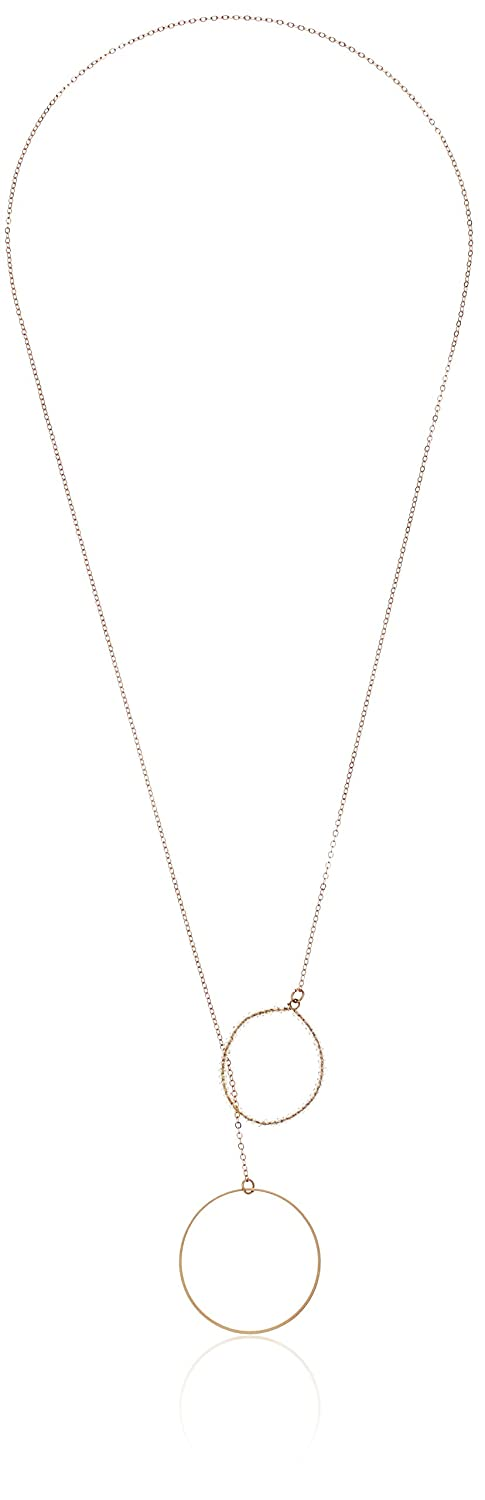 Panacea Women's Crystal Circle Y-Shaped Necklace, Gold, Adjustable The Pannee Group Inc. N01720P3