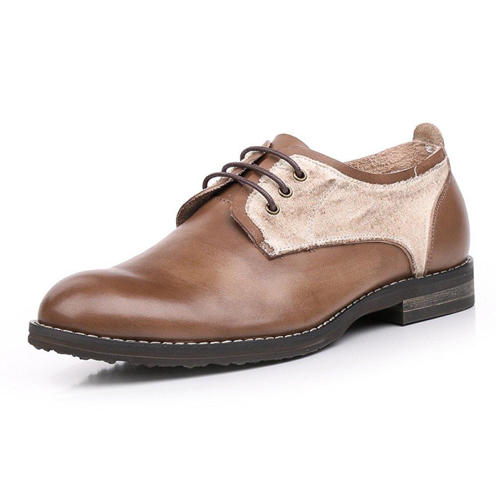 GTYMFH Sommer Casual Herrenschuhe Spitzen Atmungsaktiv Einzelne Schuhe Herren Lederschuhe