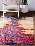 Unique Loom Estrella Collection Modern Abstract Orange Area Rug (5' 0 x 8' 0)