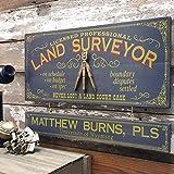 Land Surveyor Wood Plank Sign