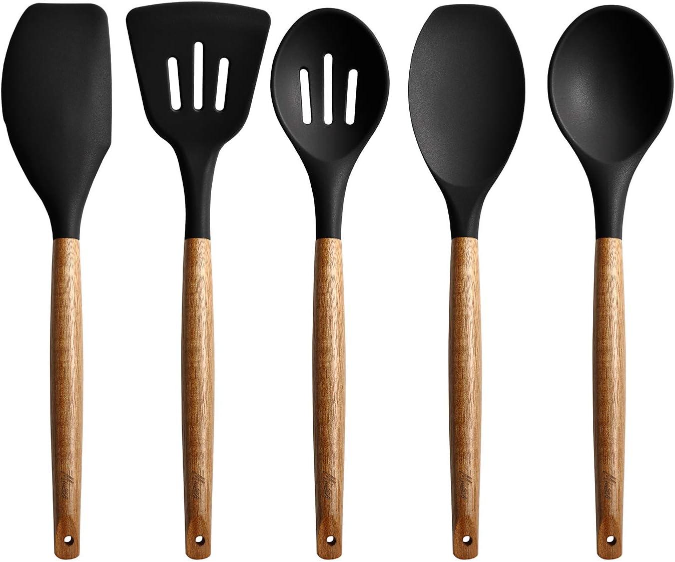 Kitchen Wooden Handle Non-Stick Kitchenware Wooden Handle Cooking