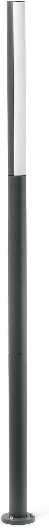 Faro Barcelona 75524 BERET Farola (bombilla incluida) LED, 16W, cuerpo de aluminio y difusor de pmma, color gris
