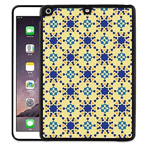 Pad Case Compatible iPad Air (2013)/iPad 5 (2013) 9.7 Inch Ethnic Moroccan Ceramic Motif with Arabesque Persian Folk Effects Antique Design Violet Blue - Persian Ceramic