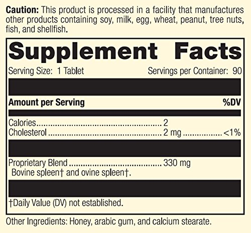 Standard Process - Spleen, Desiccated - Supports Spleen Health, Healthy Blood and Immune System Response Function, Gluten Free - 90 Tablets by Standard Process (Image #3)