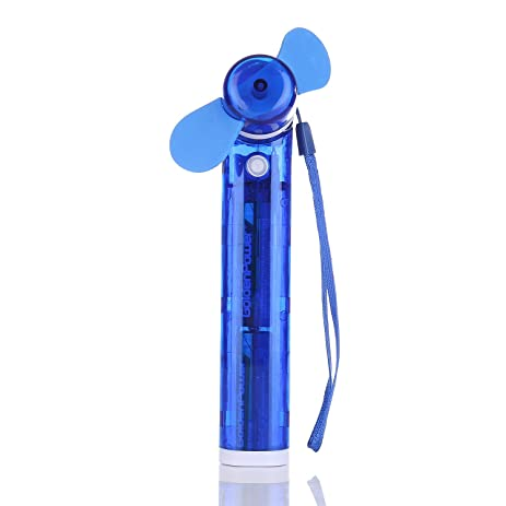 SKNBC Carabiner Water Misting Fan Portable Mini Fan Blue Personal Fans