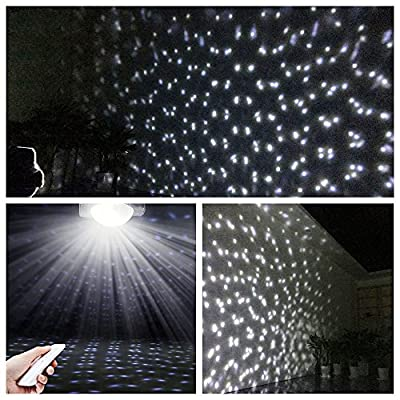 Christmas LED Snowfall Light, Rotating Night Light Projector Snow Flurries Spotlight Wireless Remote, White Snowflakes Waterproof Landscape Lighting for Xmas, Holiday, Party Garden Decoration Light