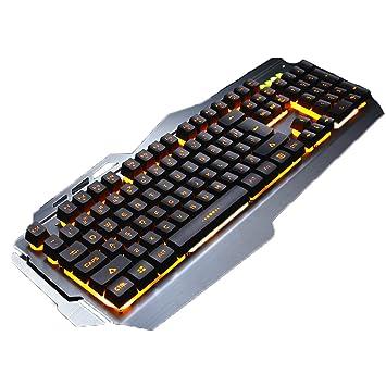 Mingteng Teclado retroiluminado para Juegos, PC con Cable ergonómico Resistente al Agua iMac Teclado Mac con Teclado para Juegos con reposamuñecas (Color ...