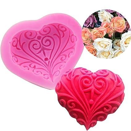 Amazon Com Taloyer 3d Valentine S Day Silicone Icing Cake Mold