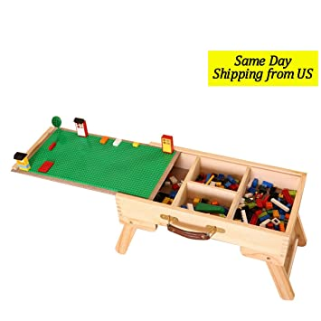 LEGO Compatible Storage Play Table Folding Custom Made Kids Children SLFT  Standard Wooden Chalkboard