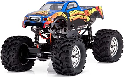 Amazon Com Redcat Racing Ground Pounder 1 10 Scale Electric Monster Truck With Ground Pounder Body Toys Games
