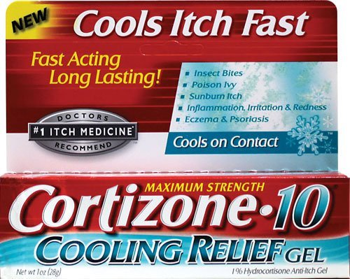 Cortizone 10 Hydrocortisone Anti-Itch Cooling Relief Gel-1, oz. Pack of 5 by CHATTEM INC