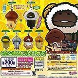 Touch Detective Nameko cultivation kit Namekonfunfu Soft Vinyl strap 2 whole set of 6 Bandai Gachapon
