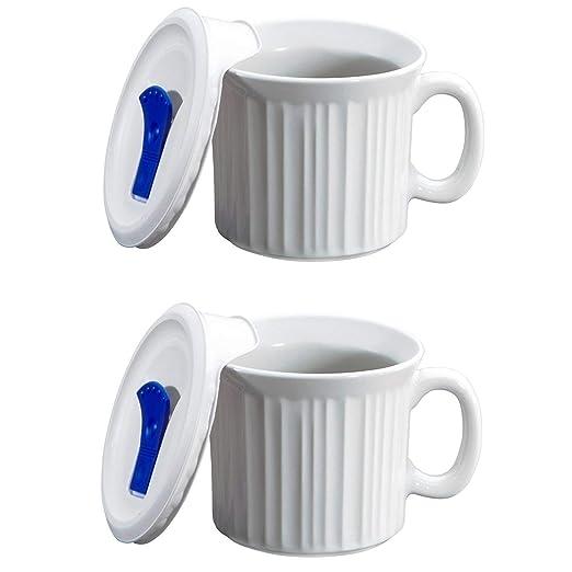 CorningWare - Taza de sopa con tapa ventilada para ...