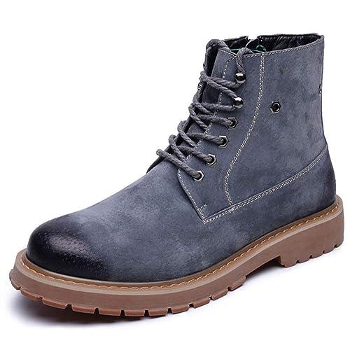 Botas Martin para Hombre Botines De Cuero Chukka Botas Casuales para La Nieve Desert Botas De Trabajo Zapatos con Cordones: Amazon.es: Zapatos y ...