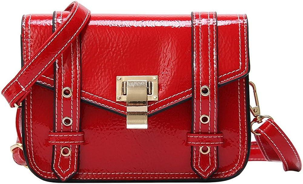 GWQGZ The New All-Match Xiekua Package Fashion Shoulder Bag Square Gules
