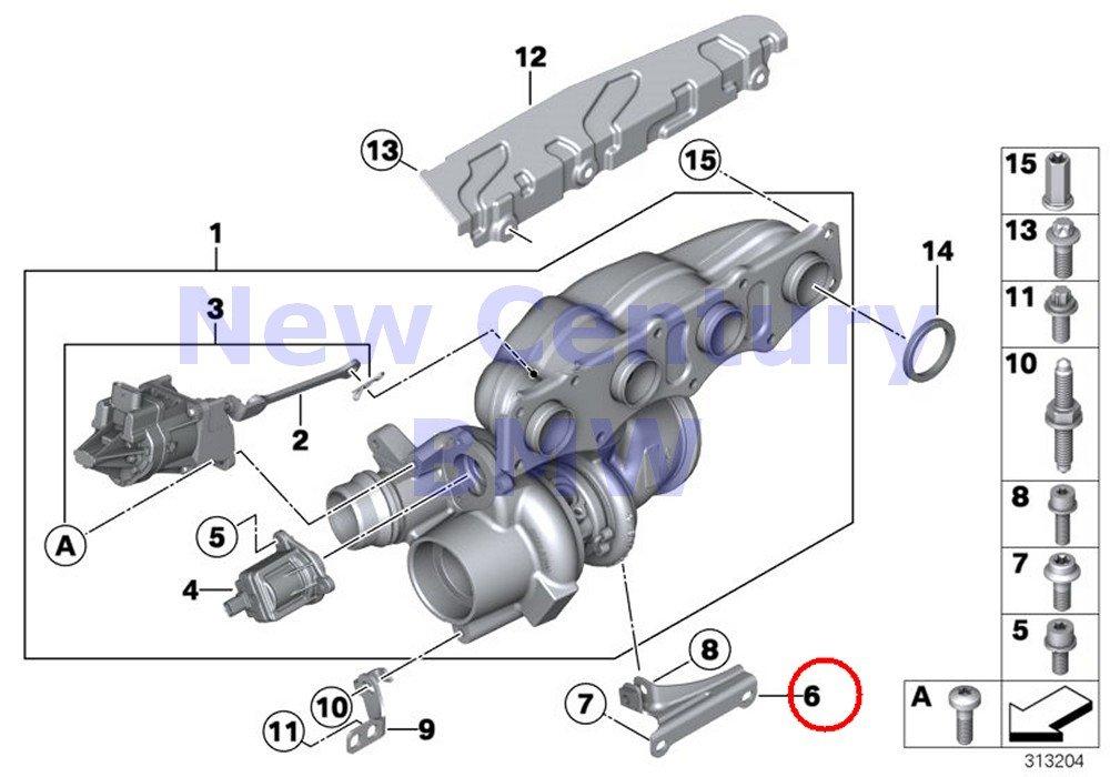 BMW Genuine Turbo Charger Turbocharger & Install Kit Value Line Support X1 28i X1 28iX Z4 28i 528i 528iX X5 40eX 228i 228iX 228i 228iX X3 28i X3 28iX X4 ...