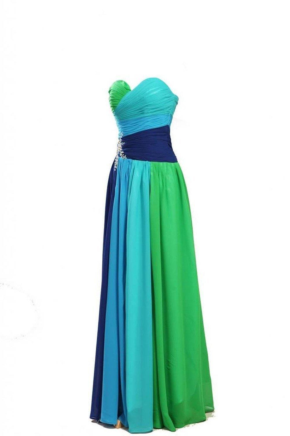 Dormencir Women's Rhinestone Colorful Long Bridesmaid Prom Evening Dresses (12) by Dormencir (Image #5)