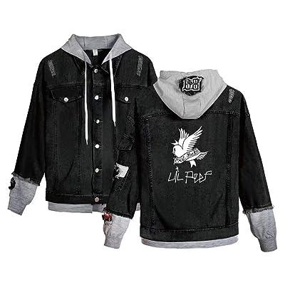 .com : Aopostall Li Peep Jeans Denim Jacket Love Printed Fashion Sport Hip Hop Hoodie : Sports & Outdoors