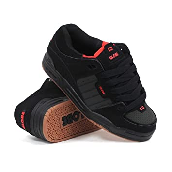 Globe Fusion Black Red Night - Zapatillas de skate (talla 38)