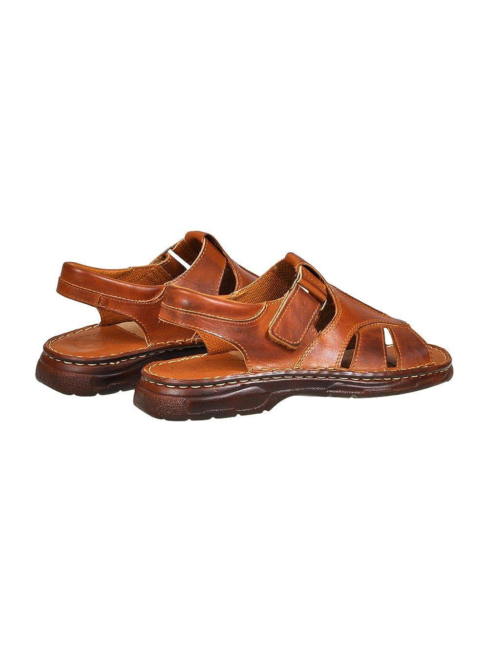 pour Homme Reel Cuir De Bison en Forme Orthopedique Chaussures Sandales Modele 835