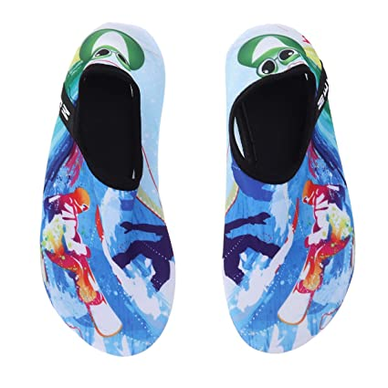 e676176b1ff7 Image Unavailable. Image not available for. Color  Quick Dry Children Beach Water  Shoes Summer Soft Breathable Anti-Slip Swimming Surfing Diving Socks