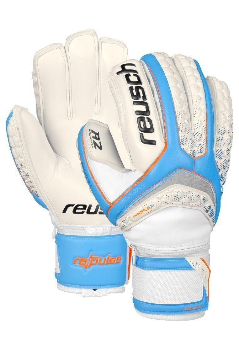 Reusch Soccer Pulse Pro A2 Ortho-Tec Goalkeeper Gloves White/Blue Size 10 [並行輸入品] B077QRBB1B