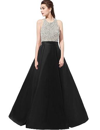 Belle House Women\'s Satin Prom Dresses Long Halter Top 2017 Evening ...